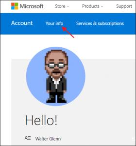 Microsoft Konto konfigurieren